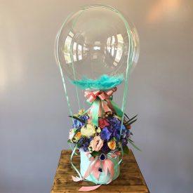 цветы в коробочке с шаром