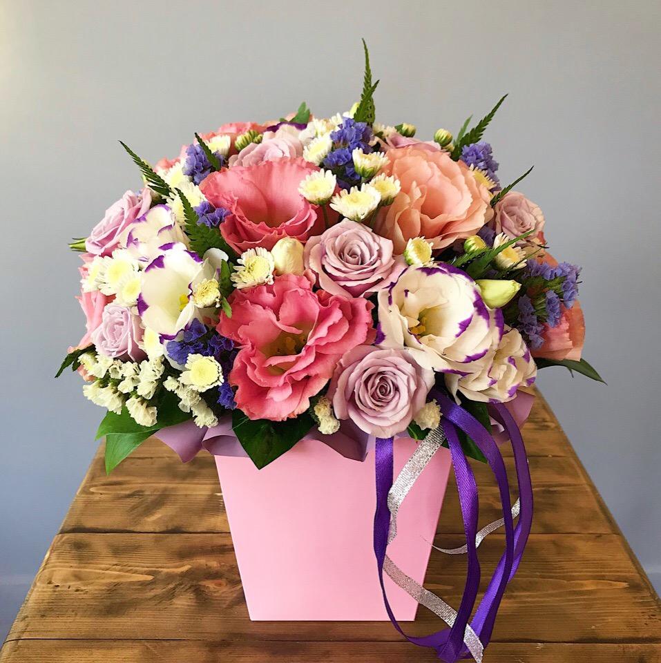 Изящная коробочка в розовых тонах