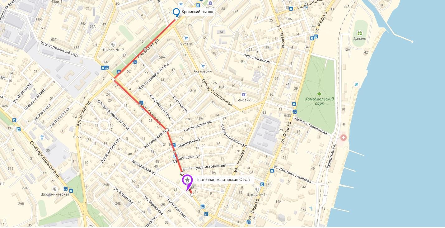 маршрут к мастерской оливас феодосия
