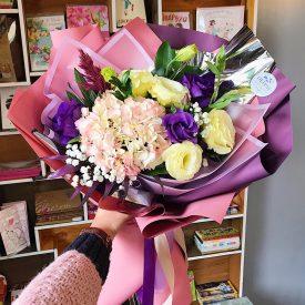 розово - фиолетовый букет