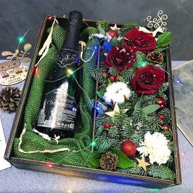 новогоднее оформление подарка оливас