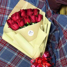шикарные красные розы букет