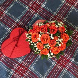 цветы в форме сердца оливас