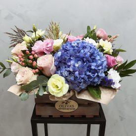 цветочный подарок с гортензией