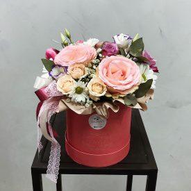 шляпная коробочка с розами