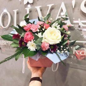 коробочка с цветами феодосия оливас