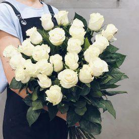 крупная белая роза