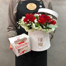 корзина цветов для девушки