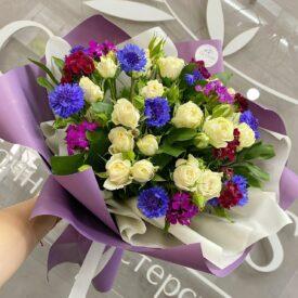 букет васильки феодсоия цветы